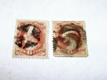 US Stamp Scott# 186 Lincoln 6 Cents Used, (Lot of 2) Cat. Value $40-50, Date 1881-82