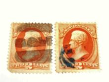 US Stamp Scott# 183 Jackson 2 Cents Used (Lot of 2) Date 1875