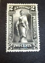 US Stamp Scott# PR103 Statue of Freedom 2 Cents  (Black), Mint-Hinged, Unused Cat. Value $200-230. Date 1895.