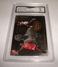 2009 Upper Deck Michael Jordan HOF #96  Legacy Gold NBA Trading Card GRADED GMA GEM MINT 9