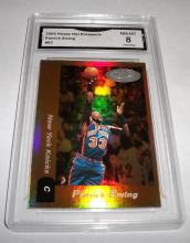 2000 Hoops Patrick Ewing #62 Hot Prospects Refractor NBA Trading Card GRADED GMA 8 NM-MT.