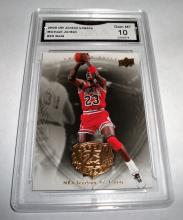 2009 Upper Deck Michael Jordan HOF #20 Gold Legacy GRADED GMA GEM MINT 10.
