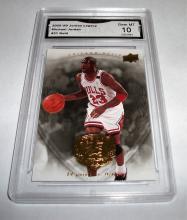 2009 Upper Deck Michael Jordan #31 Legacy Gold NBA Trading Card GRADED GMA GEM MINT 10.