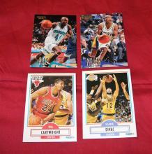 Bargain Lot of 4 NBA Trading Cards Glen Rice, Bill Cartwright, Reggie Miller, Vlade Divac UNGRADED APPEAR MINT/NEAR-MINT.
