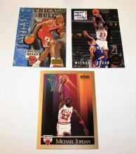 Bargain Lot of 3 Michael Jordan HOF NBA Trading Cards UNGRADED APPEAR MINT/NEAR-MINT.