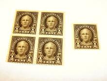 US Stamps Scott# 551 1/2 Cents Nathan Hale