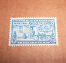 US Stamp Scott# E17 Motorcycle Delivery 13 Cents MINT-UNUSED Date: 1927-51