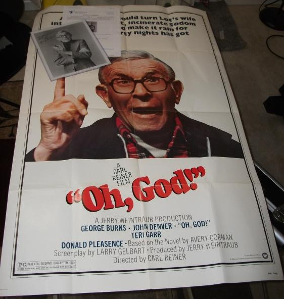 George Burns Famous For Playing God In Oh God Movie Signed Photo