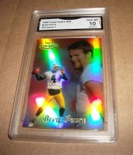 1999 Topps Brett Favre #10 Class 1 NFL Trading Card GRADED GMA GEM MINT 10.