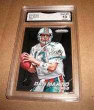 2014 Panini Prizm Dan Marino HOF #187 NFL Trading Card GRADED GMA GEM MINT 10.