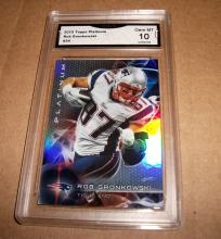 2015 Topps Platinum Rob Gronkowski #34 NFL Trading Card GRADED GMA GEM MINT 10.