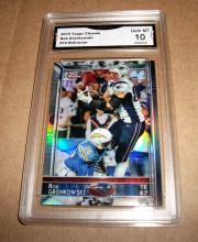 2015 Topps Chrome Rob Gronkowski #10 Refractor NFL Trading Card GRADED GMA 10 MINT GEM.