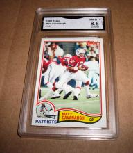 1982 Topps Matt Cavanaugh #144 NFL Trading Card GRADED GMA 8.5 NM-MT+.