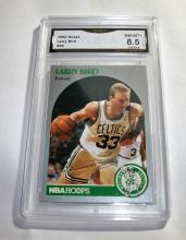 1990 Hoops Larry Bird HOF#39 NBA Trading Card GRADED GMA 8.5 NM-MT+.