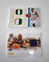 2015 Panini Rajon Rondo Patch National Treasures 11/25 NBA Trading Card Plus Bonus Karl Malone Patch Card UNGRADED APPEAR MINT/NEAR-MINT.
