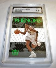 1999 Upper Deck Allen Iverson HOF #54 Legends NBA Trading Card GRADED GMA 7.5 NM+