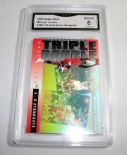 1993 Upper Deck Michael Jordan HOF #TD2 3D Hologram Standouts NBA Trading Card GRADED GMA 8 NM-MT.