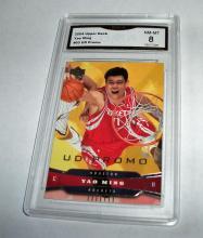 2004 Upper Deck Yao Ming HOF #60 UD Promo NBA Trading Card GRADED GMA NM-MT 8.