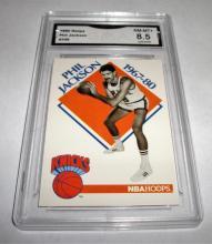 1990 Hoops Phil Jackson #348 NBA Trading Card GRADED GMA 8.5 NM-MT+