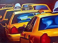 NY Taxis by Frank Karper