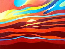 Psichedelic Sunset by Frank karper
