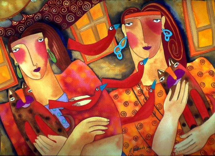 Sisters Twins by Alicia Gallardo