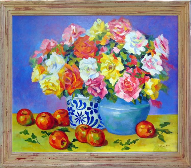 Flowers and Apples by Eduardo Zuniga