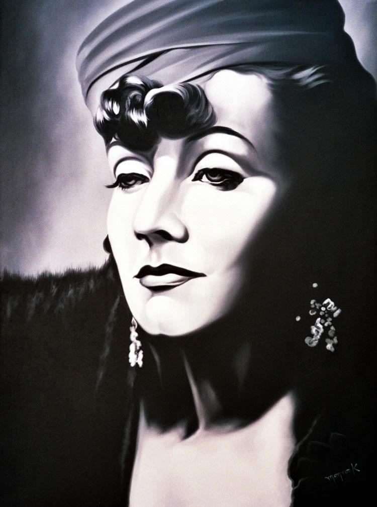 Greta Garbo by Hector Monroy