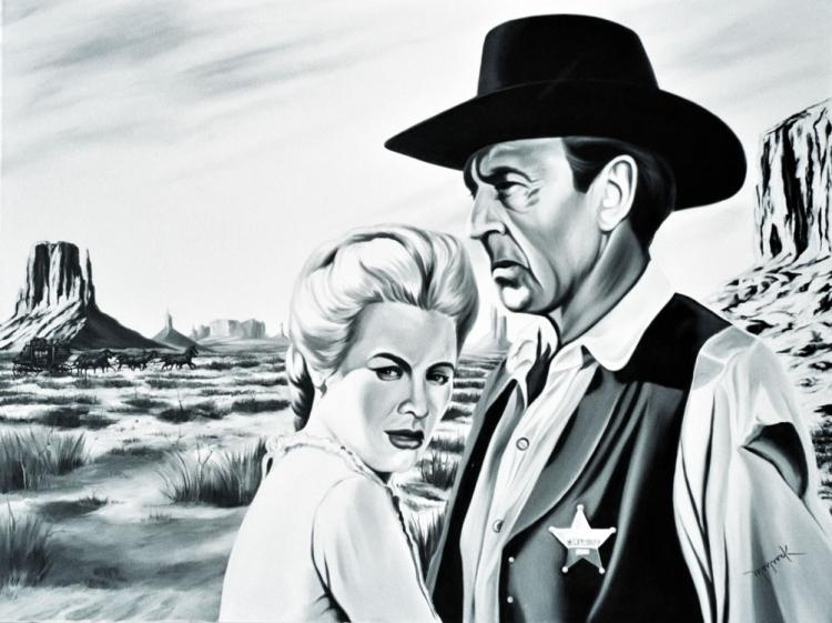 Grace Kelly and Gary Cooper by Hector Monroy