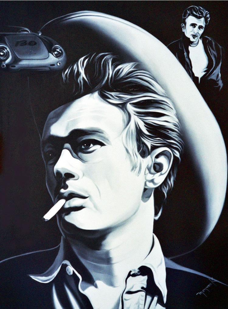 James Dean by Hector Monroy