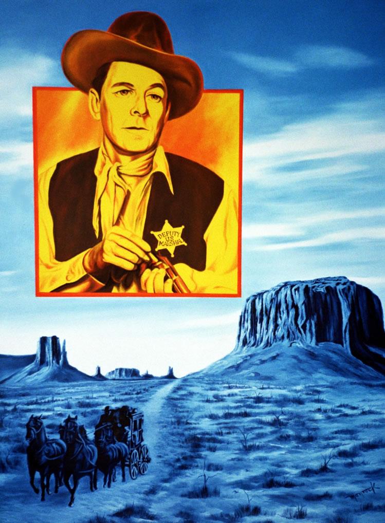 Ronald Reagan by Hector Monroy