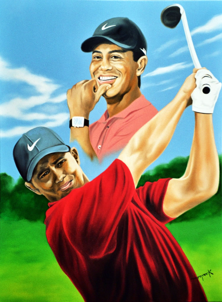 Tiger Woods by  by Hector Monroy
