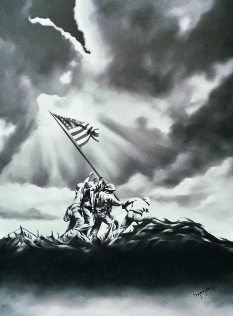 Iwogima Heroes III by Hector Monroy