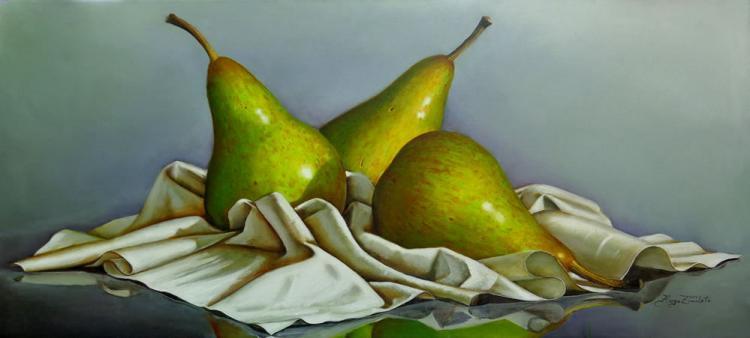 Three Pears by Hugo Zavaleta