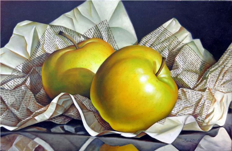 Yellow Apples by Hugo Zavaleta
