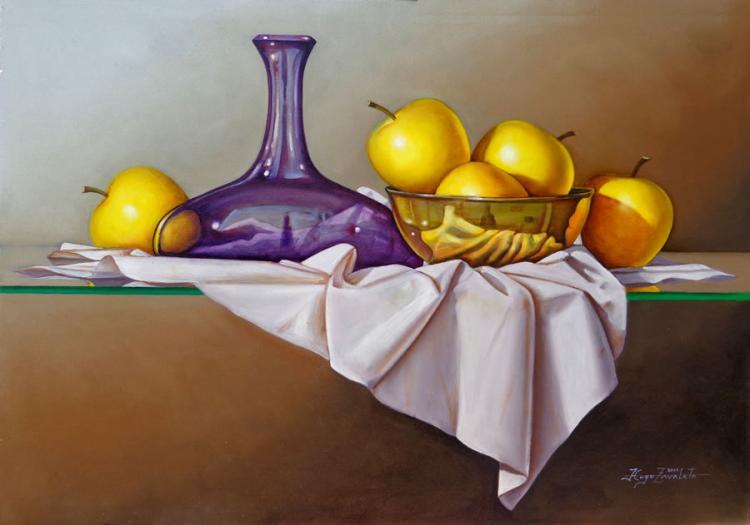 Still Life with Apples by Hugo Zavaleta