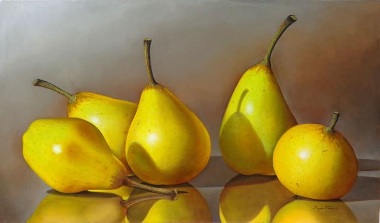 Yellow Pears by Hugo Zavaleta