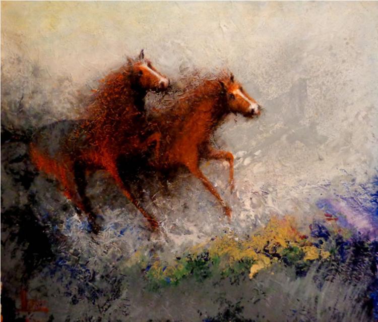 Riding by Jose Alvarez