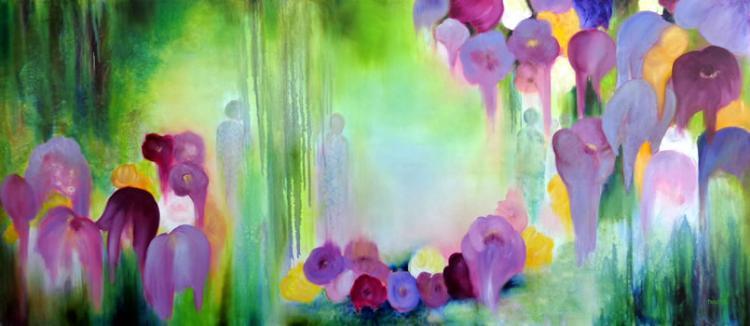 Purple Flowers by Nicole Denarie