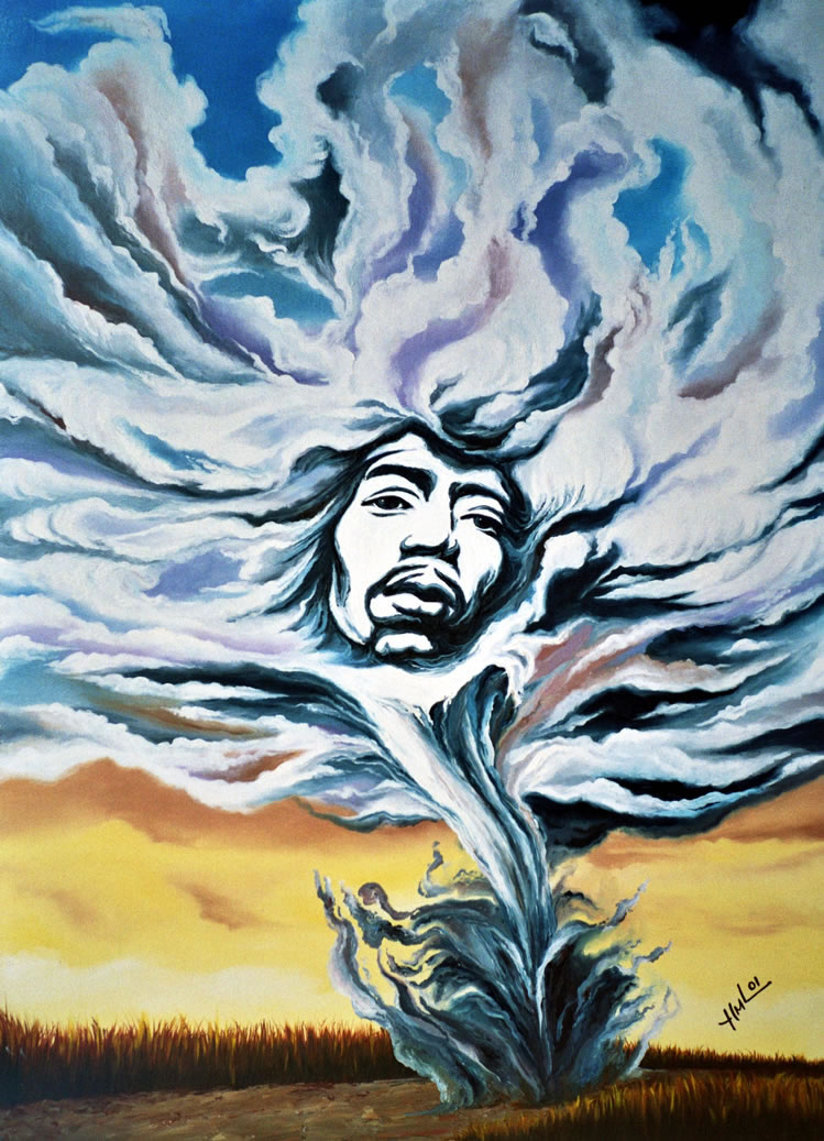 Jimi Hendrix ''Kiss The Sky'' by Hector Monroy