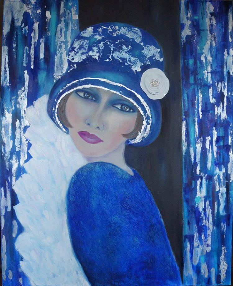 Woman in Blue by Nicole Denarie