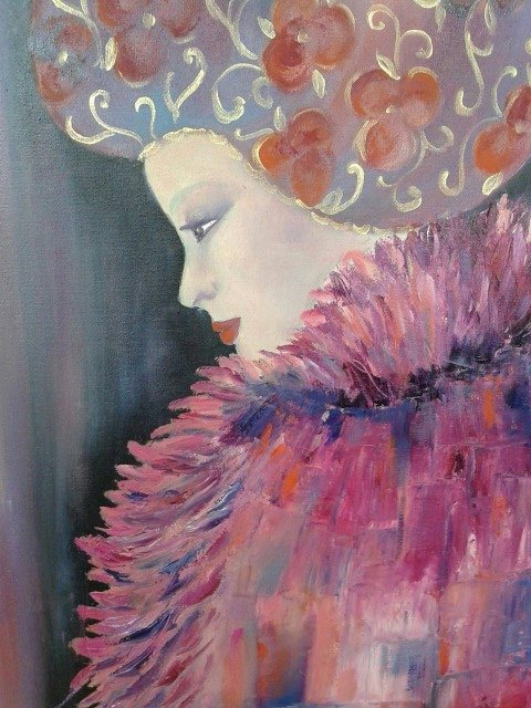 Woman in Pink by Nicole Denarie