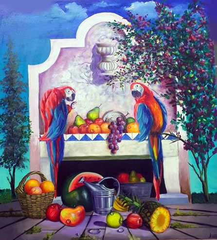 The Parrots by Alex Oropeza