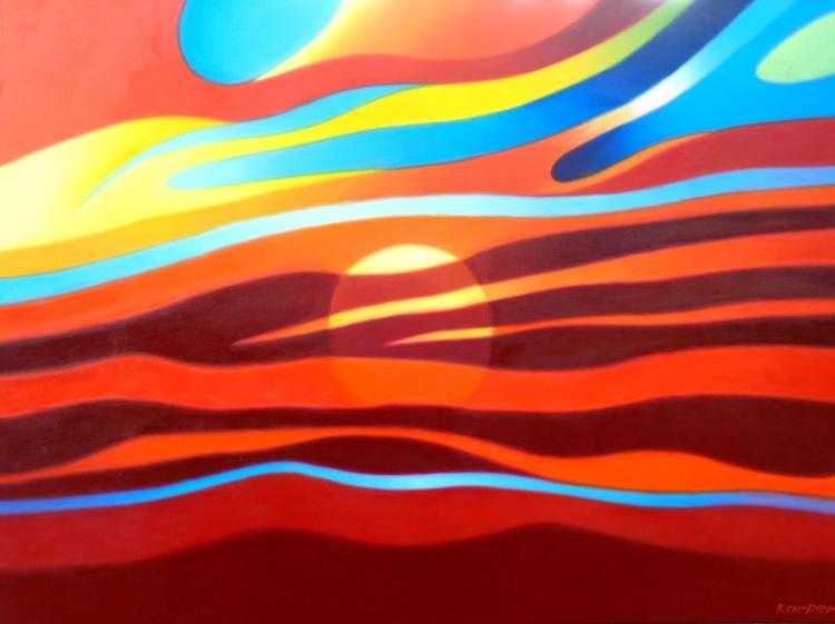Psychedelic Sunset by Frank karper