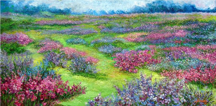 Flowery Field  by Emma Letizia Jimenez