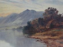 Evening Glenfalloch , Scotland , oil on canvas signed lower right.