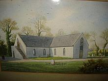 The Church at Derrykeighan, watercolour signed and dated bottom left 1904