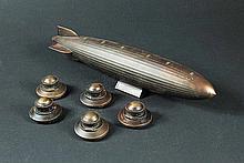 IS239B - Iron Sky - Prop Miniature Zepplin & 5 UFO Map Markers