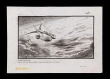 ALIENS (1986) - Hand-Drawn Dropship Storyboard