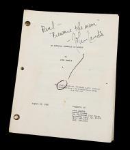 AN AMERICAN WEREWOLF IN LONDON (1981) - John Landis Autographed Script